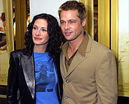 Julia Roberts with Brad Pitt in support of The Mexican.