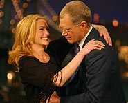 Julia Roberts clowning with David Letterman.