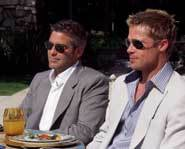 George and Brad in Ocean's 11.