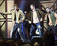 *NSYNC had back-up dancers in the special.