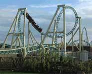 The Colussus roller coaster in England is one of the world's best roller coaster. It has ten inversions including a 90 foot loop.