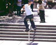 Some skateboard tricks like ollies, kickflips and heelflips can take hours of practice.