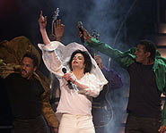 Michael reunites with The Jackson 5.