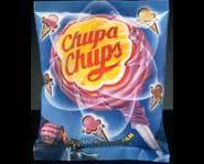 Packaging for Chupa Chups Lollipops.