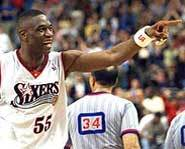 Dikembe Mutombo of the New Jersey Nets.