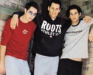 Musical group Jake look awesome in Roots Athletics gear.