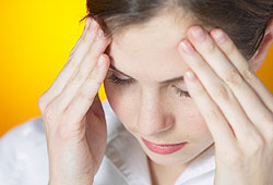 Headaches happen when blood vessels are constricted in your brain.