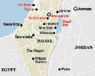 Israel is located north of Egypt.