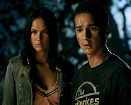 Shia starred with Megan Fox in Transformers.