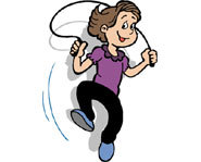 Jumping rope is a fun activity that improves flexibility and builds muscle.