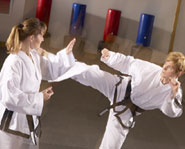 Tae Kwon Do is a form of martial arts that combines kicking and punching.