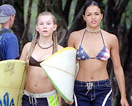 Mika Boorem stars in the surf flick, Blue Crush.