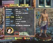Street Hoops for Playstation 2 and Xbox let's you totally customize your player.