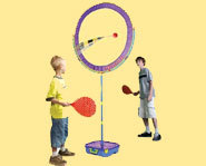 Tail Ball is an outdoor summer sport for kids that is similar to tennis and badminton.