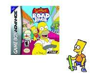 The Simpsons hit the streets of Springfield in The Simpsons Road Rage video game for the Nintendo Gameboy Advance.
