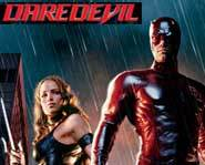 Daredevil stars Ben Affleck, Jennifer Garner as Elektra, Michael Clarke Duncan as the Kingpin and Colin Farrell as Bullseye.