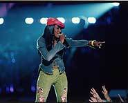 R&B singer Ashanti.