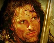 Viggo Mortensen as Aragorn/Strider in The Lord of the Rings.