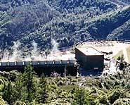 A dry steam power plant in California.