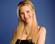 Lisa Kudrow plays Phoebe Buffay on TV show Friends.