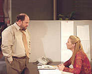 Phoebe Buffay tries to calm down a stranger after meeting him on a telemarketing phone call. (guest star - Jason Alexander.)