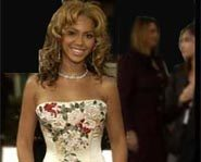 Beyonce Knowles presented an award at the 2003 Golden Globes.