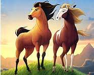 Animated movie - Spirit: Stallion of the Cimarron.