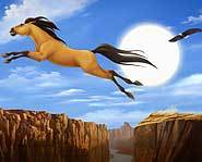 Spirit is a wild mustang in Spirit: Stallion of the Cimarron.