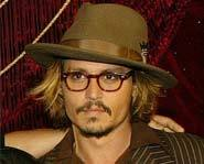 Johnny Depp at the premiere of his movie, The Pirates of the Caribbean.