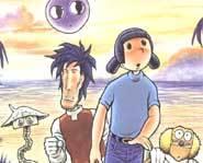 Akiko and her alien buddies.
