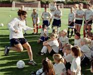 Mia Hamm is a great P.E. teacher.