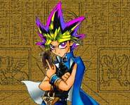 Yugi is the main charcter in the Yu-Gi-Oh! game for Game Boy.