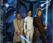 Jedi Knight Obi-Wan, Amidala & Jedi Knight Anakin Skywalker all in Star Wars Episode II.