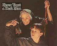 Check out the Vivian Vande Velde teen mystery novel, Never Trust a Dead Man.