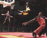 A high-flying slam dunk on TNN's SlamBall.