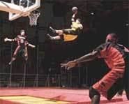 A high-flying slam dunk on TNN's SlamBall.