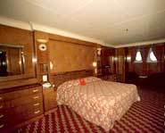 A stateroom for guests to stay in.