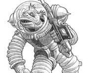 Illustration, artwork and drawings. (Spaceship Zero)
