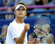 Picture of Andy Roddick, who lost in the quarter-finals of the 2004 Australian Open.