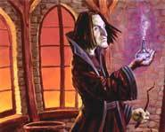 Severus 'Mr. Nasty' Snape in Harry Potter.