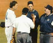 Managers and umpires don't always agree.