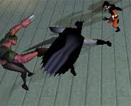 Batman fights evil with Robin in Batman The Rise of Sin Tzu video game for Xbox.