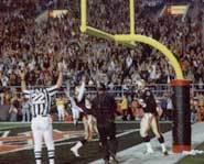 Celebrating a big touchdown.