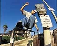 Sliding a rail.