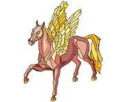 Pegasus is a mythical winged horse.