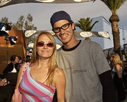Picture of pro skateboarder, Bob Burnquist and his wife, Jen O'Brien.