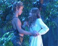 Jeremy Sumpter and Rachel Hurd-Wood play Peter Pan and Wendy.