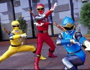 Power Rangers kick butt in Disney's new DVD release Power Rangers Ninja Storm.