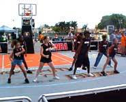 The Heat's Junior Cheer Squad at Rhythm and Rims in Miami.