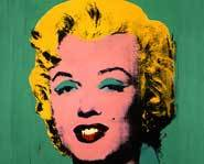 A famous Marilyn Monroe picture by Andy Warhol.